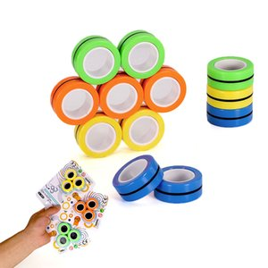 Magnetic Dedo Infinito Cubo Fidget Spinners Magnet Bloco Anel Mão SpinnersTable Toy Rotating Dedo Gyro Character Toy Descompressão