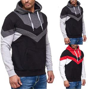 Pullover Tops Pullover Designer Männer Neue lose verursachendes Sweatshirts Mann Patchwork Kapu Fashion Trend Langarm Kordelzug