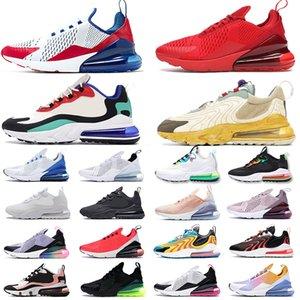 2019 Nike Air Max 270 chaussures de marque de luxe pour hommes, femmes, triple noir blanc Blooming Floral Prints baskets de sport 36-45