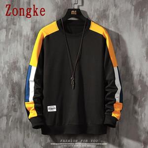 Men's Hoodies & Sweatshirts Zongke Casual Pullover Sweatshirt Hip Hop Japanese Streetwear For Clothing 2021 Arrival M-5XL