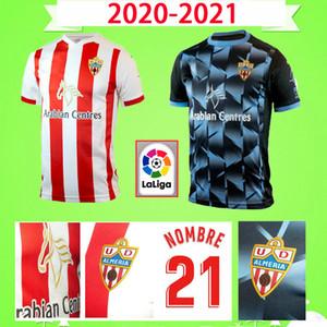 2020 2021 Union Deportiva Almería Soccer Jersey 14 GUTI NOMBRE Sekou MUNOZ CHEMA LAZO GASPAR PETROVIC personalizada 20 21 Adulto kit Football Shirt