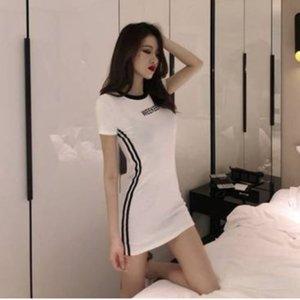 De manera delgado atractivo del bodycon delgado debajo del vestido corto de la manga 2020 sabor de Hong Kong de la primavera formal vestido de la nueva muchacha fresca bOiaT