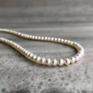 shell Alba con Tahitian perle collana alba Shell collana