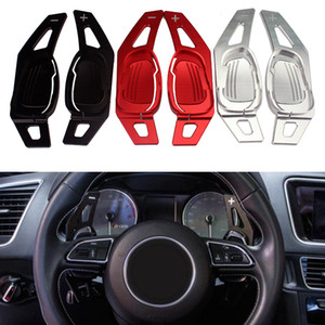 Car Steering Wheel Paddle Extension Shifters Shift Sticker Decoration For Audi A5 S3 S5 S6 SQ5 RS3 RS6 RS7 Red Black Silver