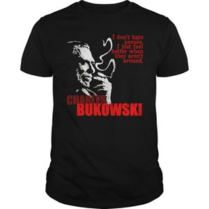 Men Tshirt Charles Bukowski T-Shirt(1) Cool Cool Printed T-Shirt Tees Top