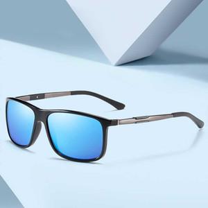 FONDYI Feminino Mulheres Moda Praça óculos polarizados UV400 Shades Sun Glasses Compras Festa Óculos de sol 2020 com caso