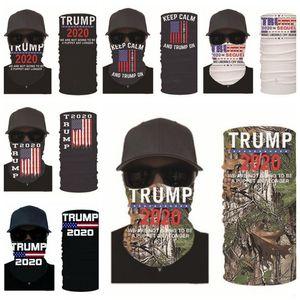 Trump Masken US-amerikanischen Wahlen Printing Turban Magie Suncreen Kerchief Kopfbedeckungen Dustpoof Scarve Außen Waschbar wiederverwendbare Maske DHD678