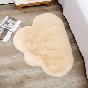 douce Fluffy forme de nuage Tapis Tapis pour en fausse fourrure Salon Décor Tapis enfants Chambre Chambre Secteur Shaggy Tapis moderne Tapis 70x90cm
