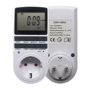 Electronic Digital Timer Switch EU FR BR Plug Kitchen Timer Outlet 230V 50HZ 7 Day 12 24 Hour Programmable Timing Socket