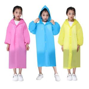 Gratuit DHL enfants filles garçons vêtements Cape du corps et les filles épaissies eva mode étudiant imper salopette poncho imperméable non jetable