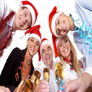 Christmas Hat Golden Velvet Christmas Hat Fur Ball Red Santa Hat, Adult Christmas Decorations For Family