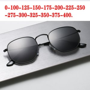 Diopter SPH 0 -0.5 TO -6.0 Finished Myopia Sunglasses Men Women Nearsighted Prescription Lens Men's Polarized Sunglasses FML