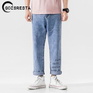 Goesresta 2020 Outono nova moda retro Calças Jeans Men Harem Calças Hip Hop Streetwear Casual Harajuku soltas Men Jeans Mulher
