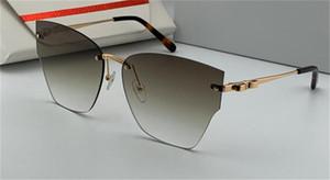 새로운 패션 디자인은 223 개 무테 고양이 안경 렌즈 보호 안경 UV400 우아한 인기있는 스타일 나비 다리 장식 안경 선글라스