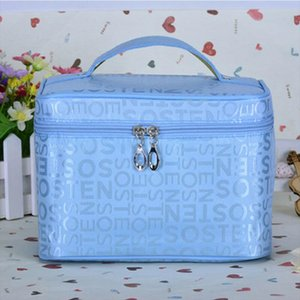 Fashion Women Letter Multifunction Portable Travel Cosmetic Makeup Bag Wash Toiletry Organizer Case Large Capacity Casual Totes