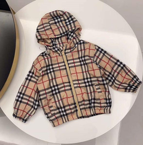 2021 Nuovo Cute Spring Bambini Cappotto Autunno Giacca per Bambini Ragazzi Cappotti Cappotti Cappotti Attivo Ragazzo Attivo A Vento Bebreaker Vestiti per bambini Abbigliamento M-02