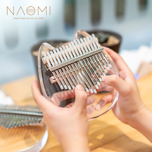 NAOMI 17 Keys Thumb Piano Transparent Acrylic Thumb Piano Finger Percussion Gifts DIY