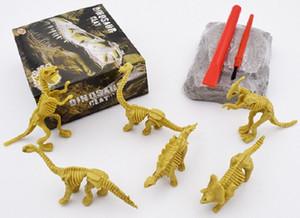 Kid Dinosaur digging game Dinosaur Fossil Skeleton Excavation toys Dig up Kit DIY Assembly Educational Kids Toy Kid Gifts