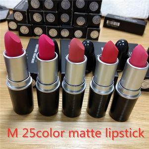 Makeup M Matte Lipstick Luster Retro Lipsticks Frost Sexy Matte Lipsticks 25 colors lipsticks 3g High Quality