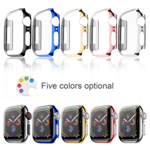 Protective Case for apple watch case 42mm 38mm 44mm 40mm bumper Cover screen protector PC plating for Apple watch case 5 4 3 2 1