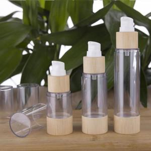 Eco-friendly Bamboo 20ml 30ml 50ml 80ml 100ml 120ml Vider Airless Bouteilles Pompe à vide pour le maquillage Sérum Crème Lotion soin de la peau