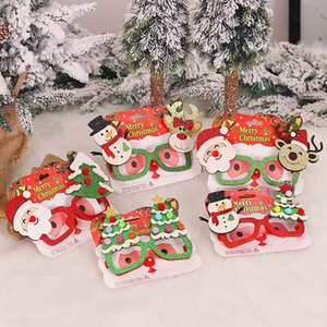 Party Decoration Christmas Glitter Lunettes de Noël Costume de lunettes Cadre de vacances Favors Styles assortis pour les enfants et adultes JK2009PH