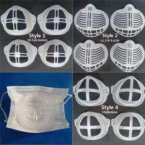3D Mouth máscara de silicone tampa do suporte Máscara Titular respirável Válvula Assist Ajuda máscara interna Máscaras Almofada Bracket ferramenta acessória