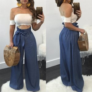 Clothes Paperbag Trousers Spring Summer Fashion Pants High Waist Casual Leisure Pants Designer Wide Leg Pants for Womens