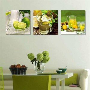 3 Panel Modern Printed Fruits Lemon Painting Picture On Canvas Kicthen Decor Cuadros Landscape For Living Room(No Frame)Pr151