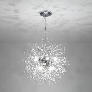LED redondo Colgante Luz Color Plata Lámpara Fire Fire Decoración Lámparas Colgantes Lámparas Cocina Comedor Sala de estar Luminaria USA Warehouse-l