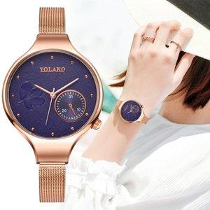2020 Nuevo diseño de moda de alta calidad creativa cuarzo de la flor de la correa del reloj de señoras de regalos Mujer delgada correa de reloj de la correa Montre