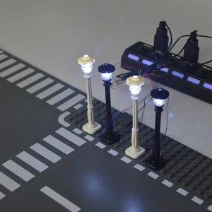 Stadt Straßenlaterne Building Blocks Led Licht 7 Ports LED USB Light Emitting klassischen Brick kompatibel Alle Marken bbyePG homebag
