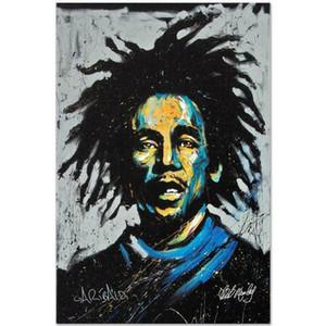 "David Garibaldi ""Bob Marley"" Home Decor dipinto a mano HD stampa Olio dipinti su tela Wall Art Immagini 7585"