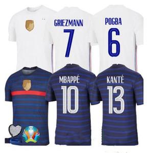 Fransa EURO 2020 2021 futbol forması Maillots futbol de maillot equipe de france 20 21 MBAPPE Griezmann Kanté Pogba Boyut s-4XL