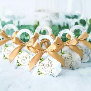 Şerit Kutuları Şeker Düğün eşyalar doğum günü partisi Noel Baby Shower Packaging ile Hediye Kutusu Gmjf Favors