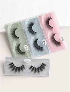 2020 MAGEFY 12 Pairs 3D Mink Eyelashes Natural Long Eye Lashes Handmade Thick Black False Eyelashes Makeup Beauty Tool