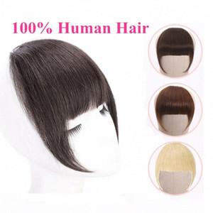 Brésilien Cheveux Blunt Bangs agrafe dans la prolongation de cheveux Remy Clip-In Fringe Bangs alipearl 613 Blonde Neat ETHM #