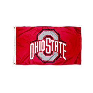 Ohio State Buckeyes Newly Flag , Flag of NCAA, Custom 3x5ft All Countries Digital Printing, Free Shipping
