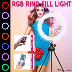 Hot Sales 8inch 160 LED RGB Ring Fill Light Dimmable Lamp APP+Remote Control for Selfie Photography Vlog Live Streaming