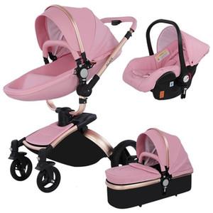 3 في 1 دراجة ثلاثية العجلات ووكر العليا المناظر الطبيعية عربة قابلة للطي عربات الأطفال عربة أطفال عربة للطفل 0-36 شهرا