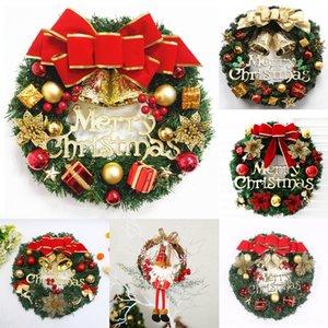 Nrwbm nette kreativ Elk Country Mann-Weihnachtsschneemann-Kranz Tür hängende Figur Feiertagsdekoration Rattan-Weihnachtsbaum-Dekoration für