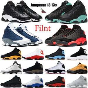 Flint Jumpman 13 13s Men Basketball Shoes Reverse He Got Game Cap and Gown Black Island Green Bred court purple Carmelo Anthony Sneakers