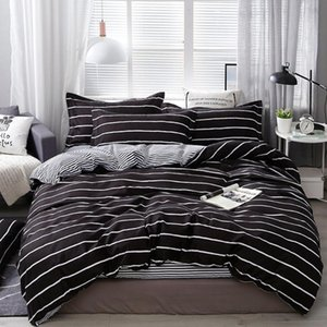 Wongs Bedding Fashion Bedding Set Home Textile Classic Duvet cover Bed Linen Single Queen King Size 3PCS Dropshipping