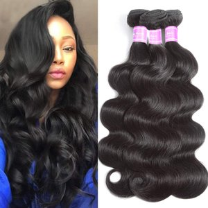 H Human Hair Bundles Body Wave Remy Hair Peruvian Indian Brazilian Virgin Hair Extension Natural Color 8 -32 Inch