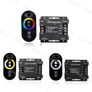 RVB / Simple / Double Controlers 12-24V RF RF Éclairage Touch Touch Sans Fil Demande pour 3528 5050 Module Light Strip Bar rigide DHL