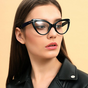 New Arrival Bald Design Fashion Cat-Eye Style Thick Frame With Special Rivet Beautiful Women Optical Glasses