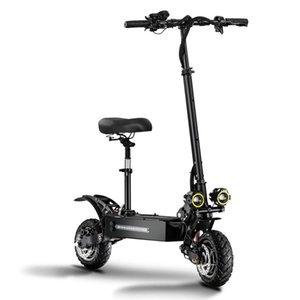 핫 무료 배송 접이식 오프로드 스쿠터 자전거 성인 듀얼 드라이브 60V 5400Whigh 속도 오프로드 전기 자동차를 접는 높은 전력