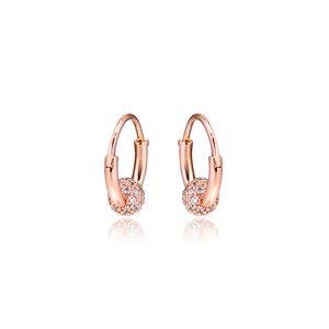 CKK pendiente Rose pavimenta el grano del aro de los pendientes de joyería de plata esterlina 100% para las mujeres Brincos Kolczyki Pendientes accesorios de mujer