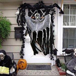 100cm Skull Halloween Hanging Ghost Haunted House Hanging Grim Reaper Horror Props Home Door Bar Club Halloween Decorations