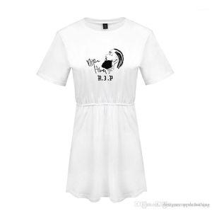 Printed Female Clothing Crew Neck A Line Fashion Apparel Nipsey Hussle Womens Summer Dresses Hot RIP 3D Digital